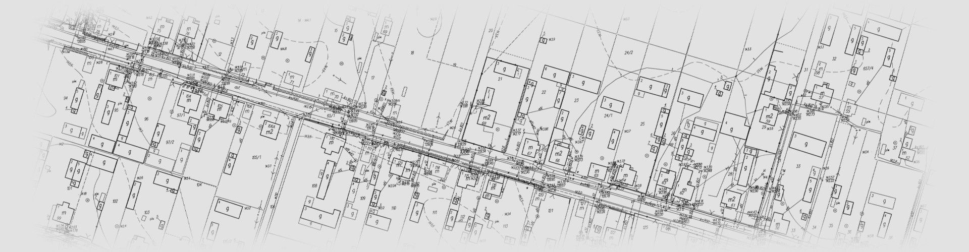 Mapa do celów projektowych, wykonana przez geodetę uprawnionego